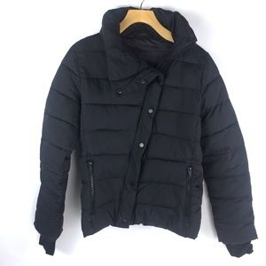 Gap Fit Black Puffer Zip up Jacket